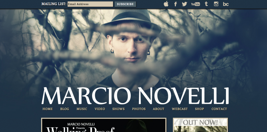 Web Design for Musicians | Marcio Novelli