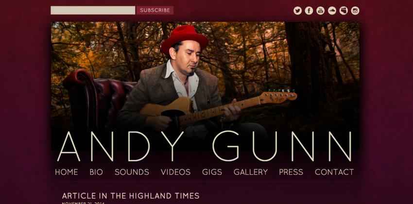 Websites for Musicians | Andy Gunn