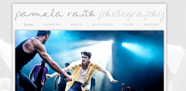 Web Design for Photographers | Pamela Raith Photography