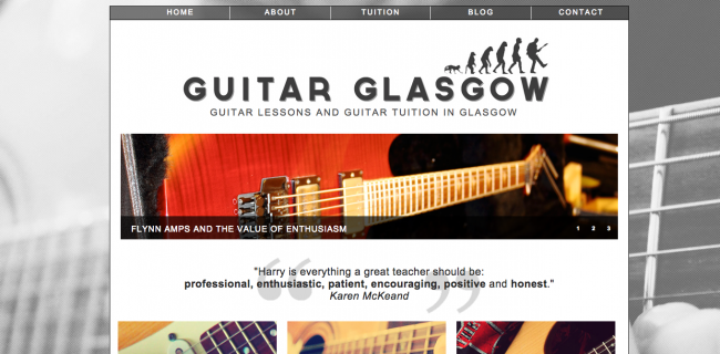 Web Design for Musicians | Guitar Glasgow