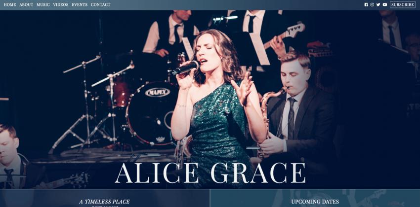 Website Design for Musicians | Alice Grace Music