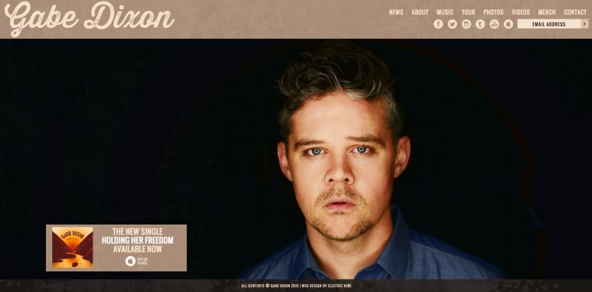 Gabe Dixon | WordPress Websites for Musicians | Electric Kiwi