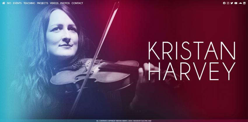 Web Design for Award-Winning Musicians
