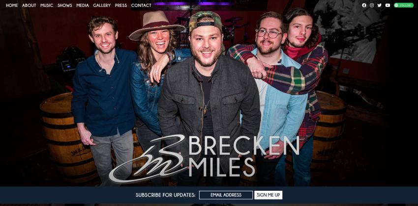 Website Design  for Bands and Musicians